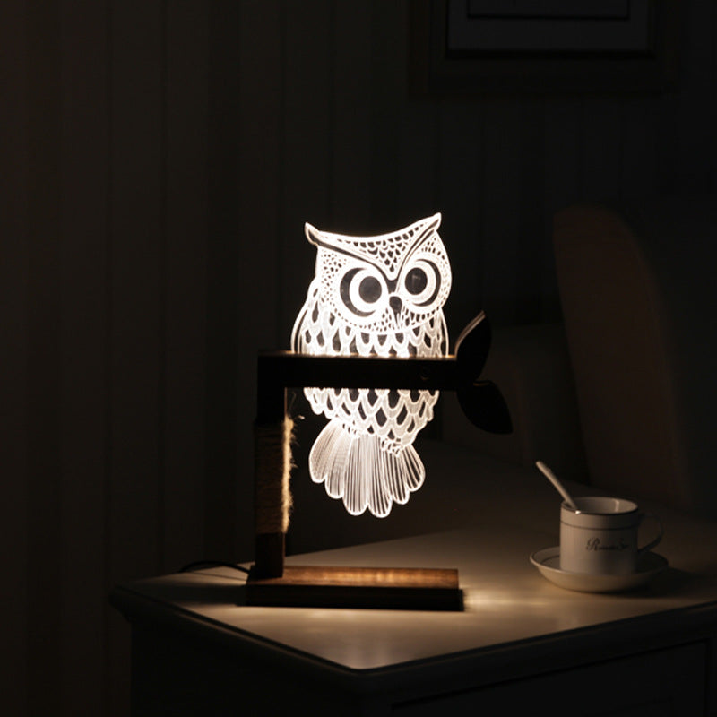 3D Acrylic Owl Nightlight