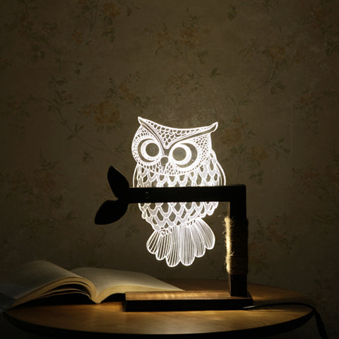Image of 3D Acrylic Owl Nightlight