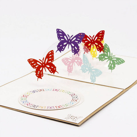 Image of 3D Pop Up Butterfly Greeting Card
