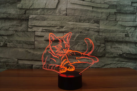 Image of 3D Cat Night Light