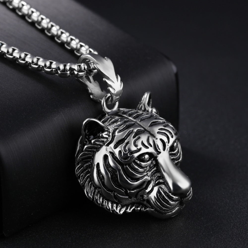Stainless Steel Tiger Pendant