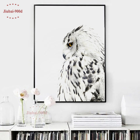 Nordic Owl Canvas Painting