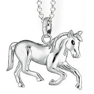 925 Sterling Silver Horse Necklaces