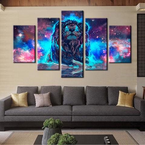 Image of Abstract Lion Wall Art Canvas