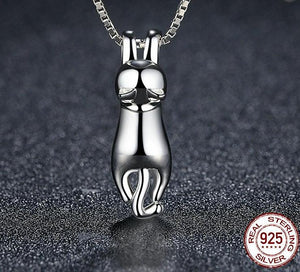 Sterling Silver Lovely Cat Long Tail