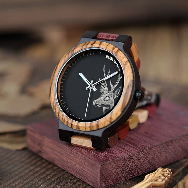 Deer Collection Wood Quartz Watch