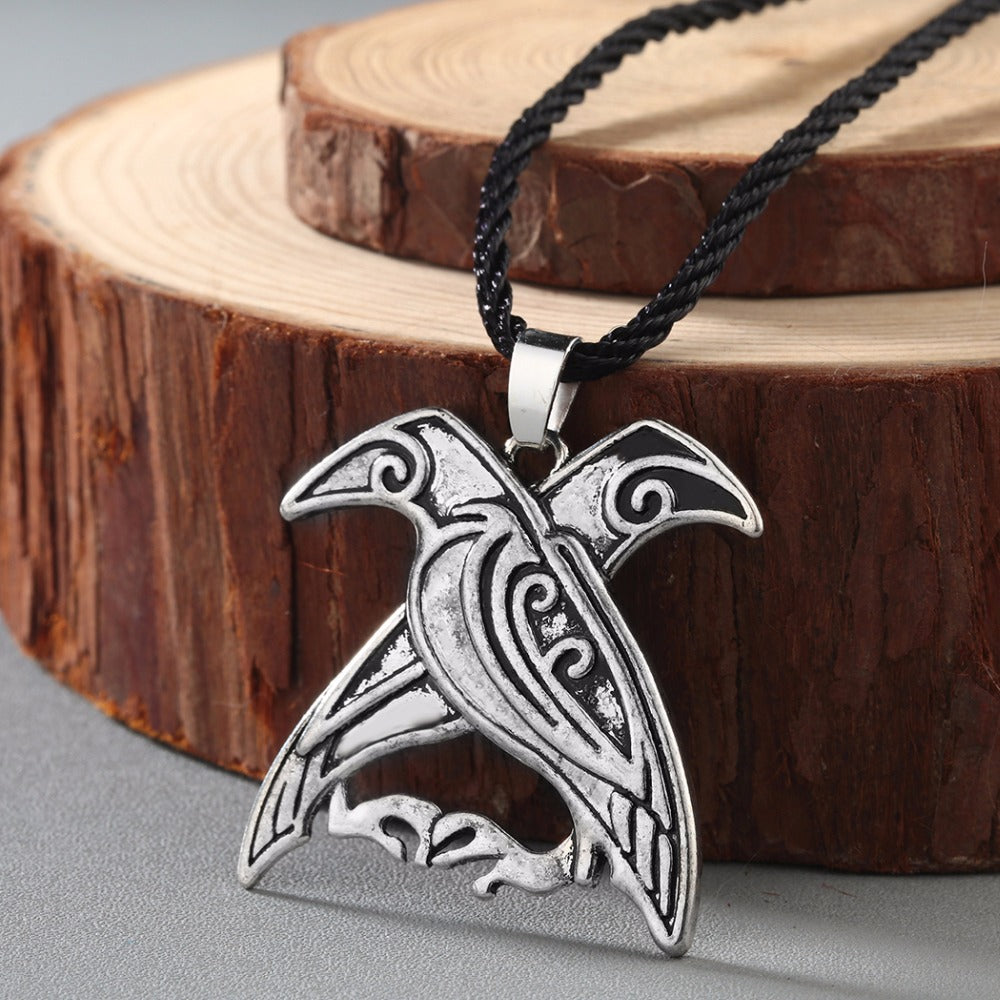 Double Crow Necklace