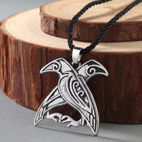 Image of Double Crow Necklace