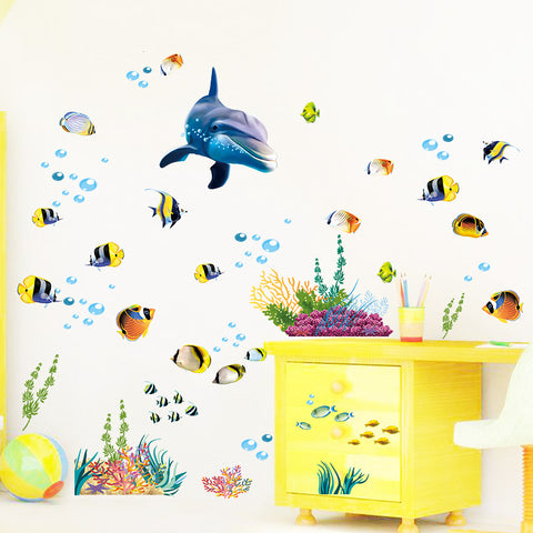 Image of Cartoon Waterproof Dolphin Stickers