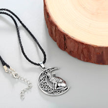 Wolf Celtic Moon Viking Necklace
