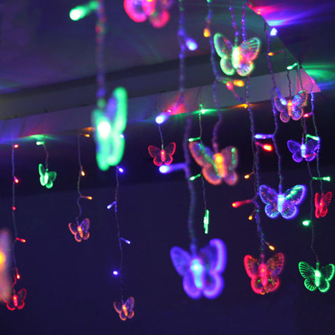 Image of Hanging LED Butterfly String Light
