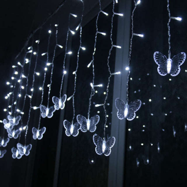 Hanging LED Butterfly String Light