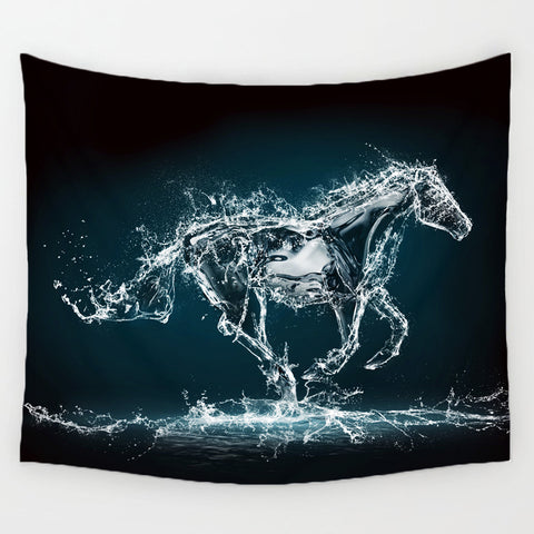 Image of 3D Running Horse Tapestry