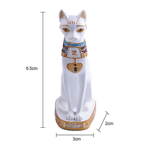 Egyptian Cat Figurine Statue