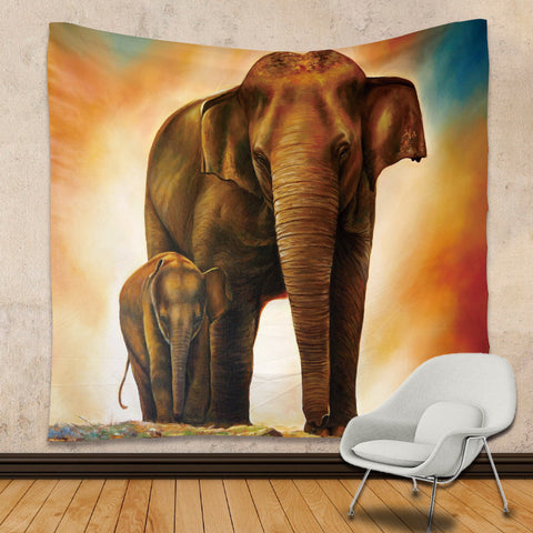 Image of Elephant Tapestry
