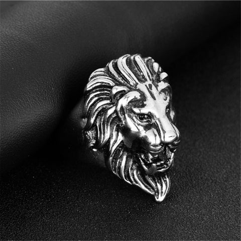 Image of Fashion Titanium Steel Lion Head