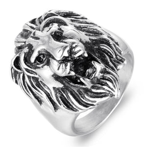 Fashion Titanium Steel Lion Head