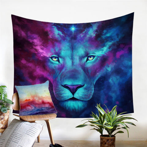 Image of Lion Printed Tapestry