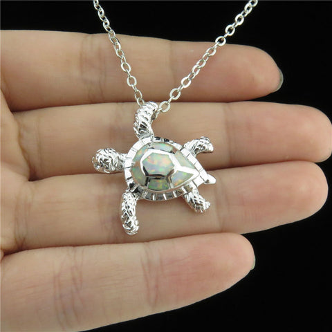 Image of Animal Tortoise Opal Pendant
