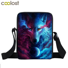 Galaxy Wolf Messenger Bag