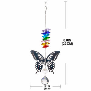 Butterfly Crystal Ball Prism Rainbow Maker
