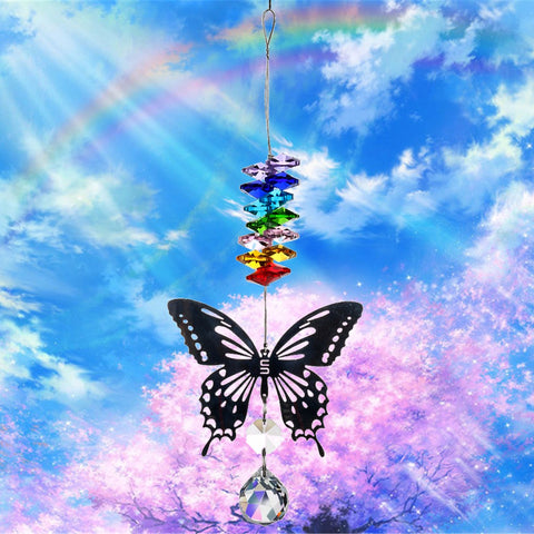 Image of Butterfly Crystal Ball Prism Rainbow Maker