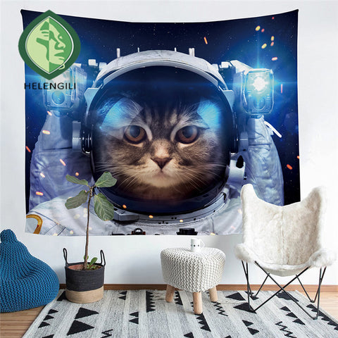 Image of Astronaut Cat Tapestry