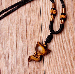 Tiger Eye Fox Pendant