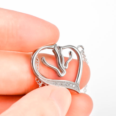 Image of Sterling Silver Heart Charming Bracelet