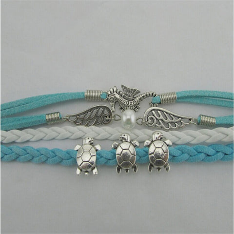 Image of Hand-Wove Turtle Bracelet