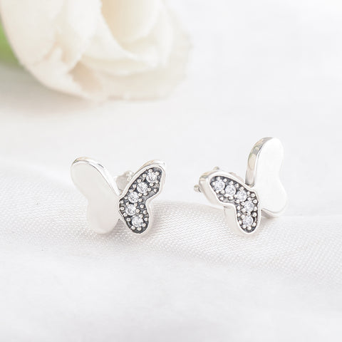 Image of Sterling Silver Butterfly Earrings
