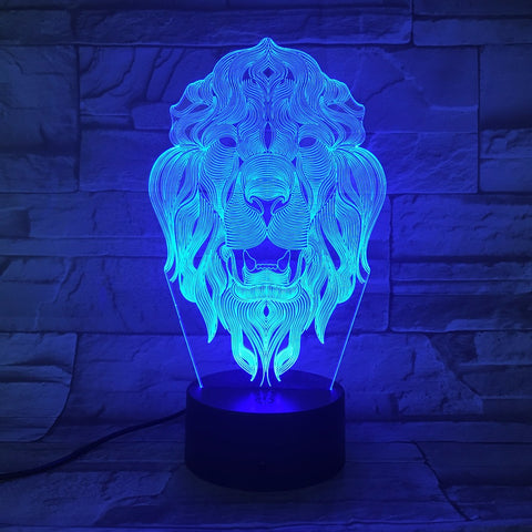 Image of Lion Face Night Light