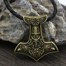 Norse Viking Jewelry Double Odin's Crow Warrior Pendant