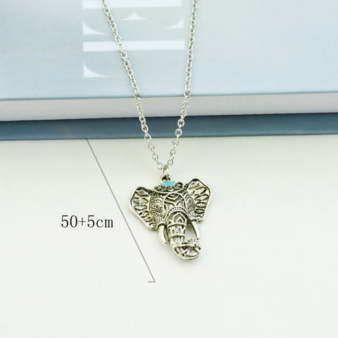 Image of Elephant Pendant Necklace