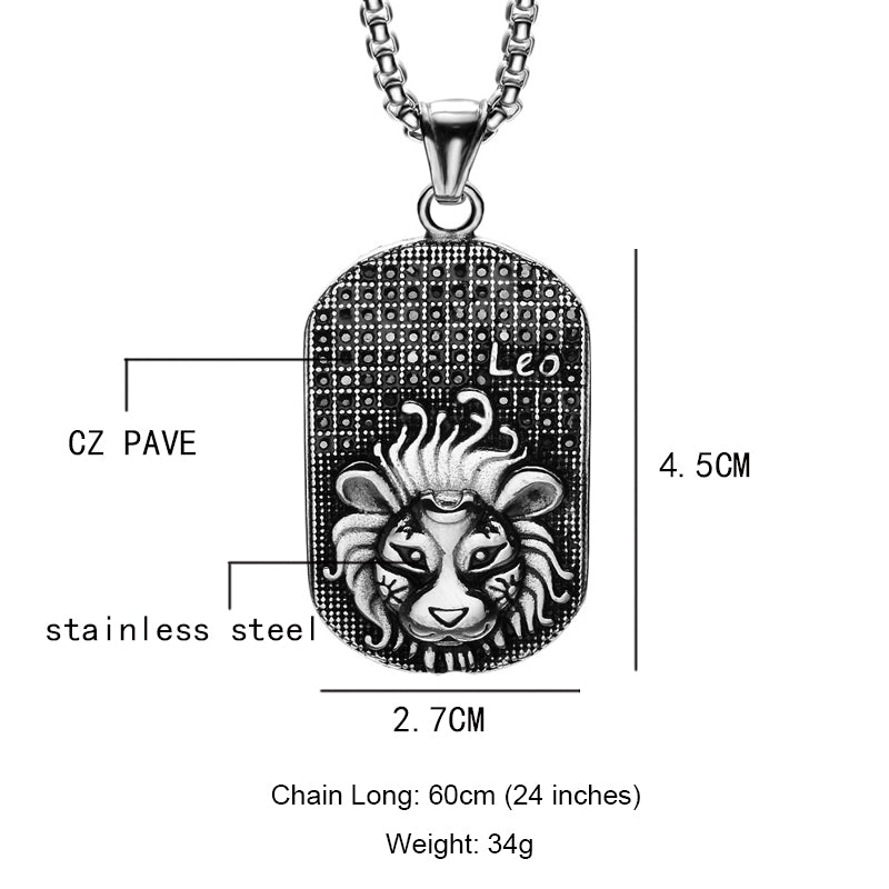 Lion Leo Charm Necklace