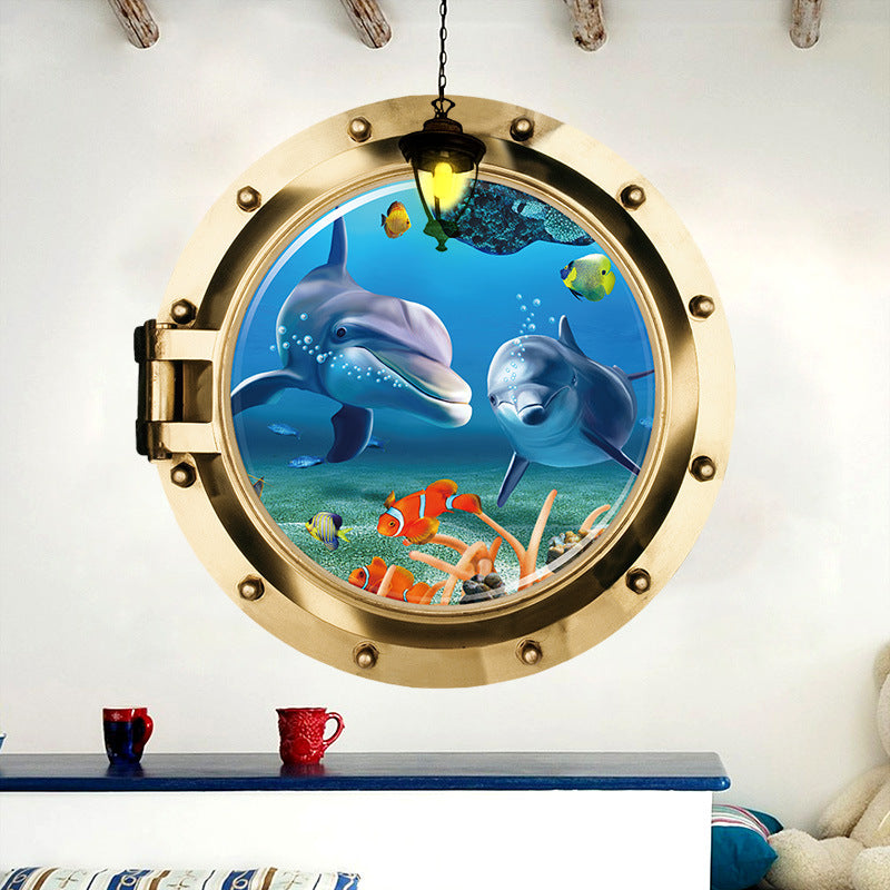 Underwater Dolphin Wall Sticker