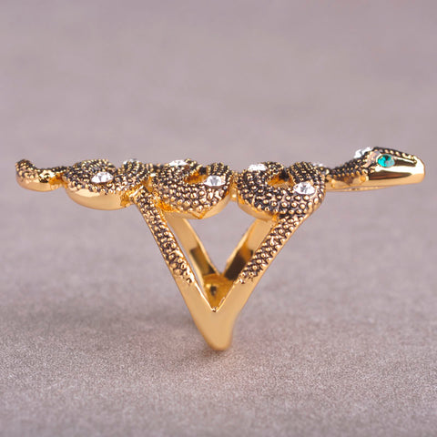 Unique Snake Shaped Women's Ring