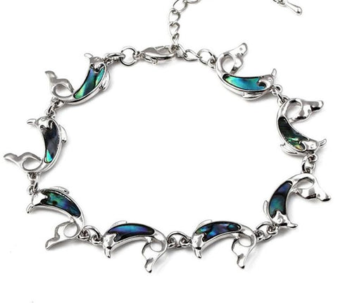 Image of Dolphin Natural Abalone Shell Bracelet