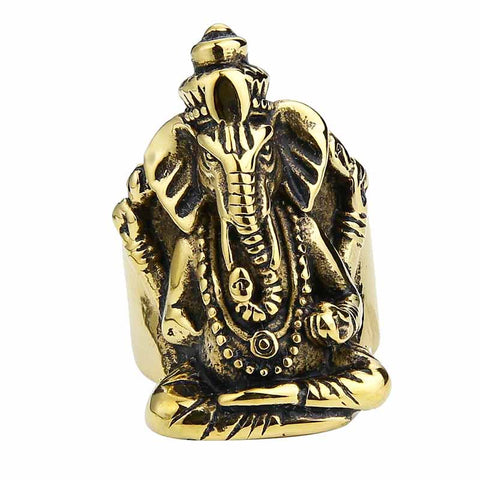 Image of Ganesha Stainless Steel Rings