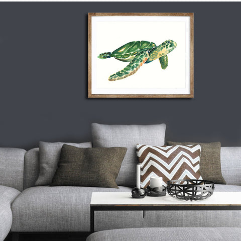 Image of Watercolor Sea Turtle Art