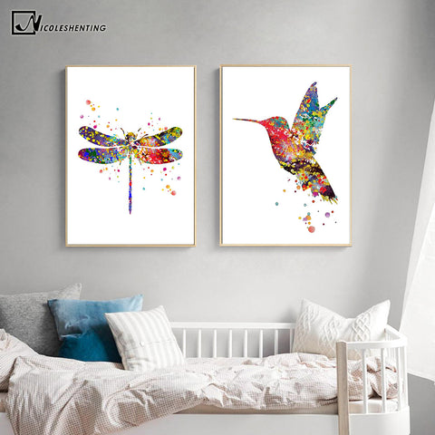 Image of Dragonfly Canvas Poster