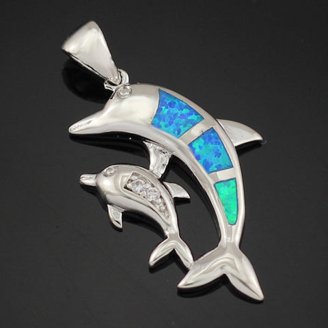 Image of Blue Fire Opal Dolphin
