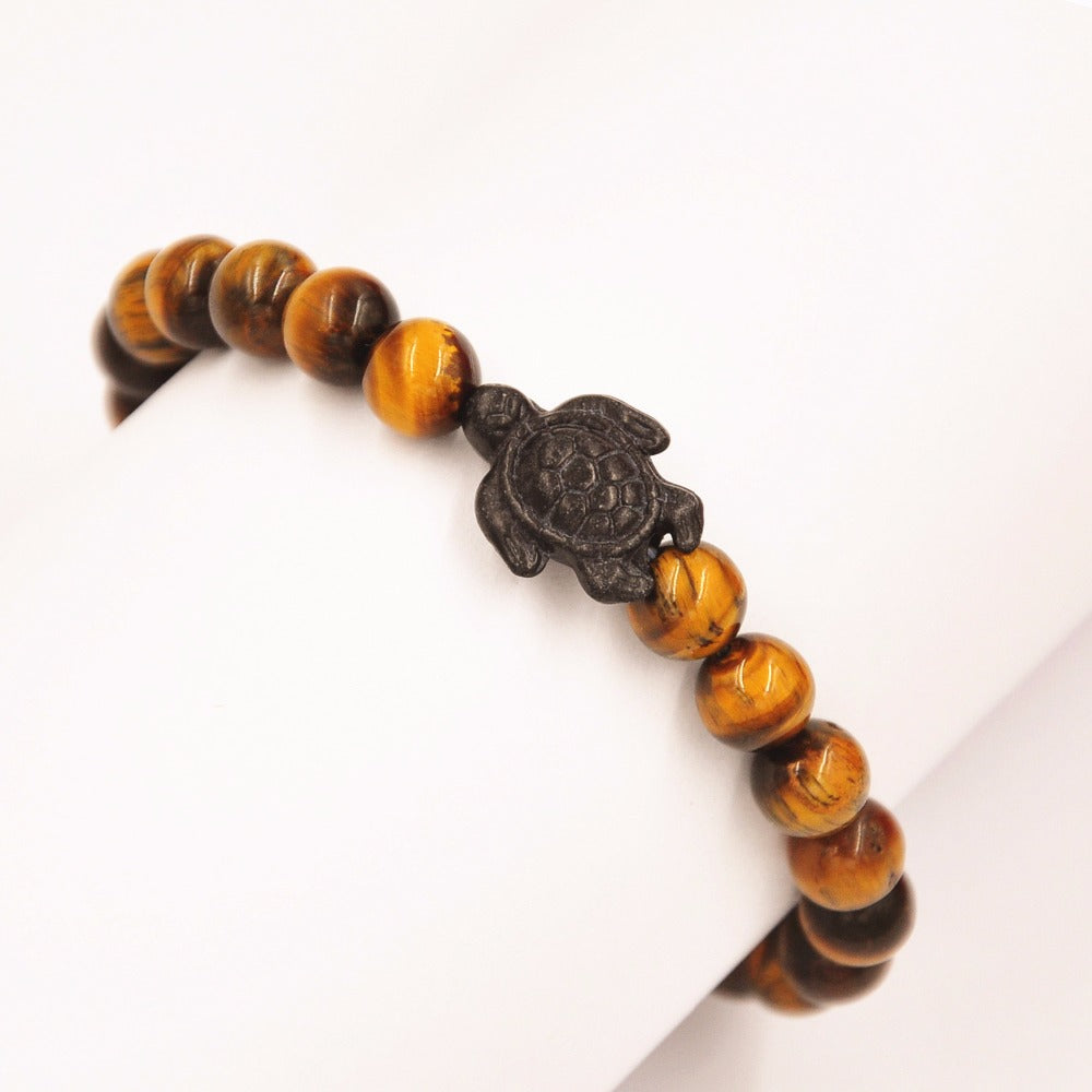 Yellow Tiger's Eye Turtle Bracelet