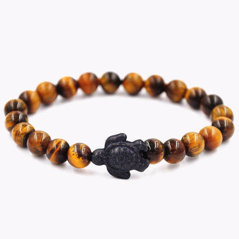 Image of Yellow Tiger's Eye Turtle Bracelet