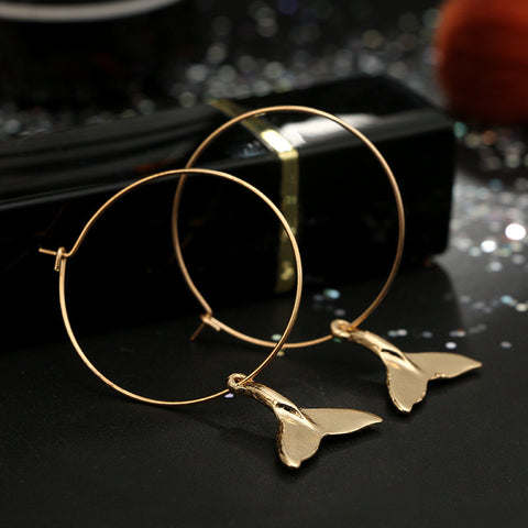 Dolphin Hoop Earrings