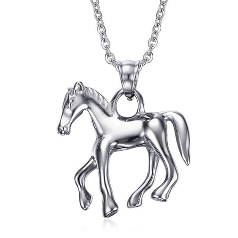 Image of Stainless Steel Horse Pendant