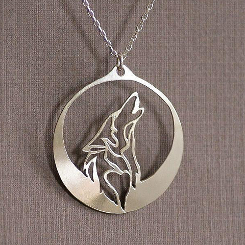 Image of Howling Wolf Fine Necklace