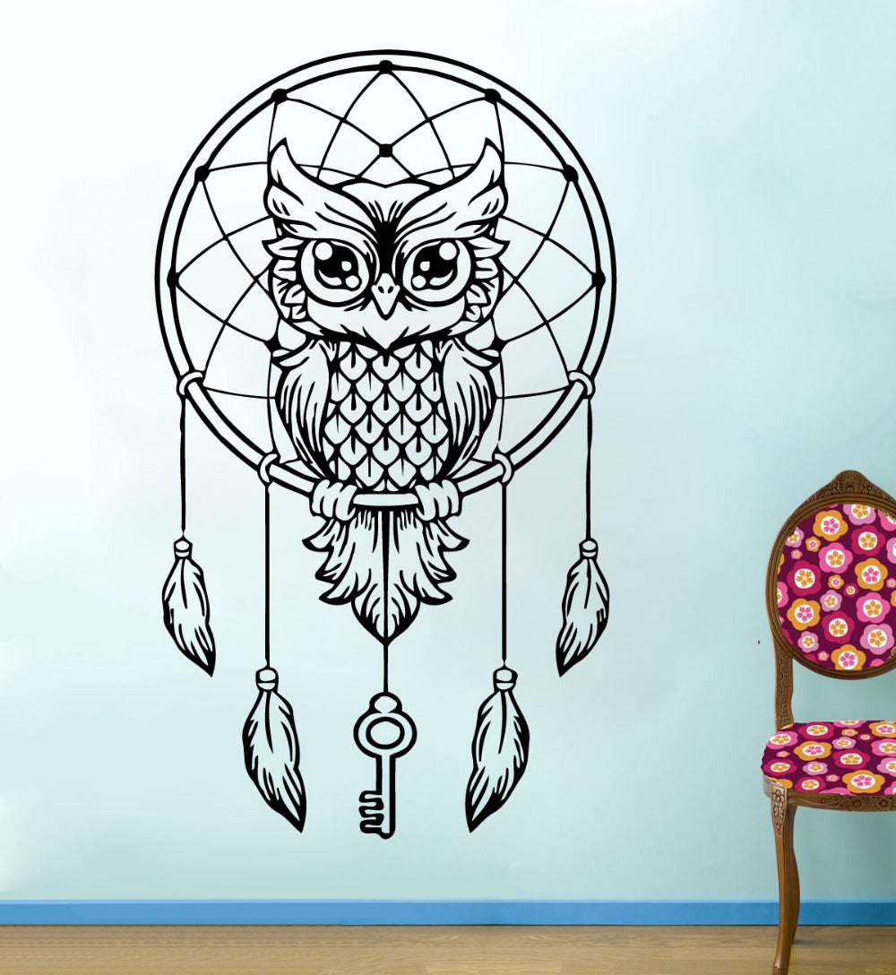 Cute Wise Owl Tree Wall Sticker
