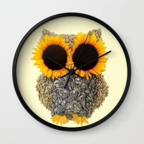 Image of Hoot! Day Owl! Wall clock
