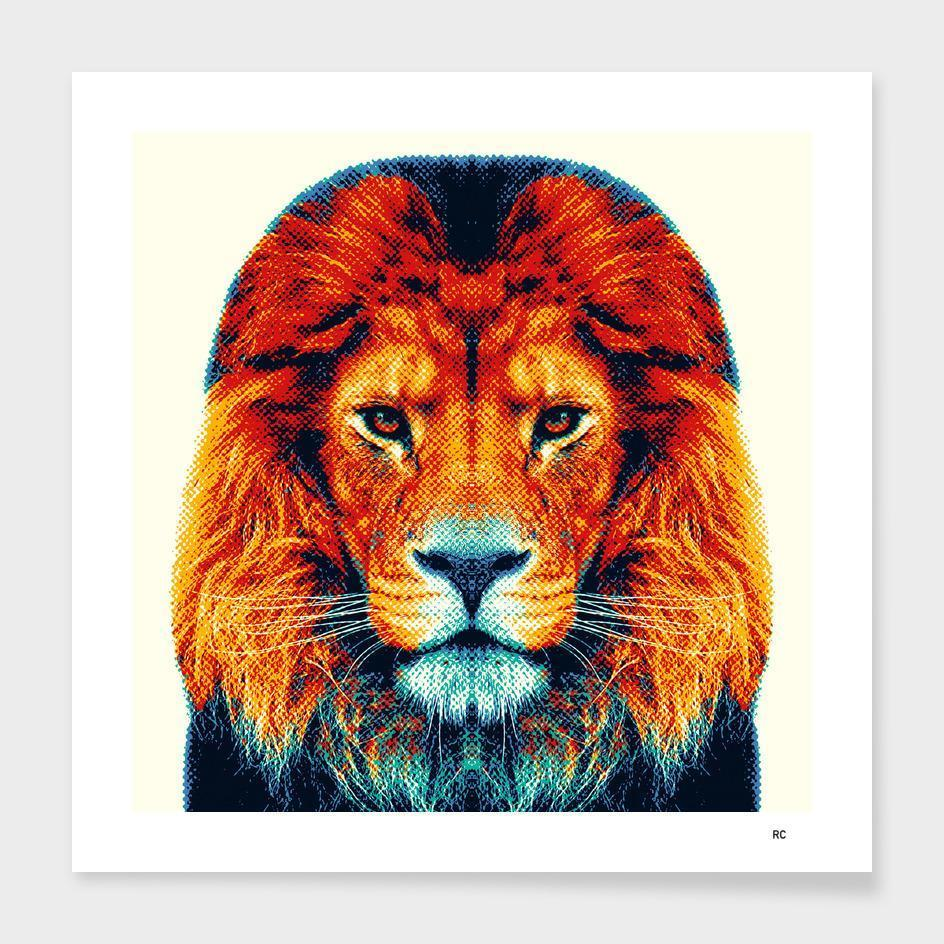 Lion - Colorful Animals  Cushion/Pillow
